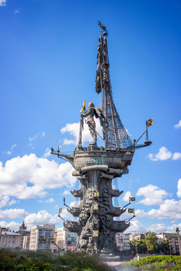 Monumento a Peter el grande, Moscú, Rusia foto de archivo