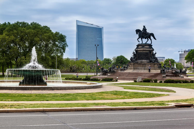 Monumento Philadelphia de George Washington foto de archivo libre de regalías