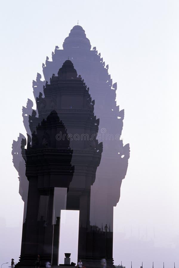 Monumento Phnom Penh Da Independência, Cambodia Imagens de Stock Royalty Free