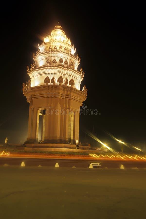 Monumento Phnom Penh da independência, Cambodia imagens de stock