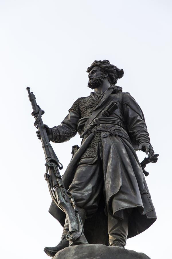 Monumento pionero en Irkutsk, Federación Rusa foto de archivo