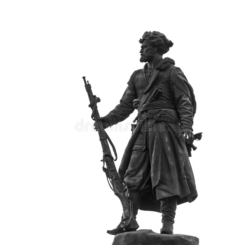 Monumento pionieristico a Irkutsk, Federazione Russa fotografie stock