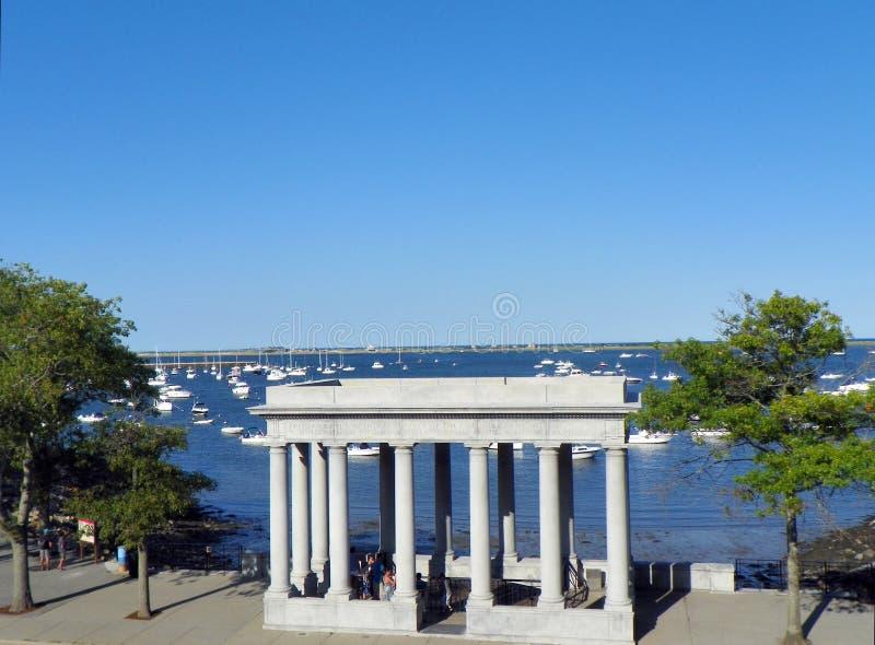 Monumento Plymouth Massachusetts de Plymouth Rock fotos de stock royalty free