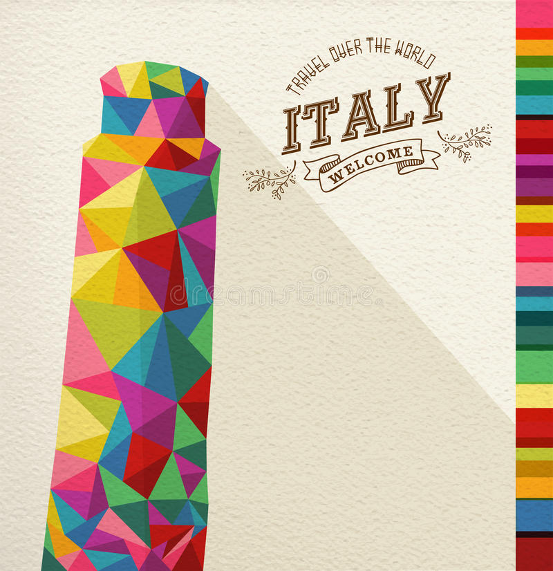 Monumento poligonal do marco de Itália do curso ilustração do vetor