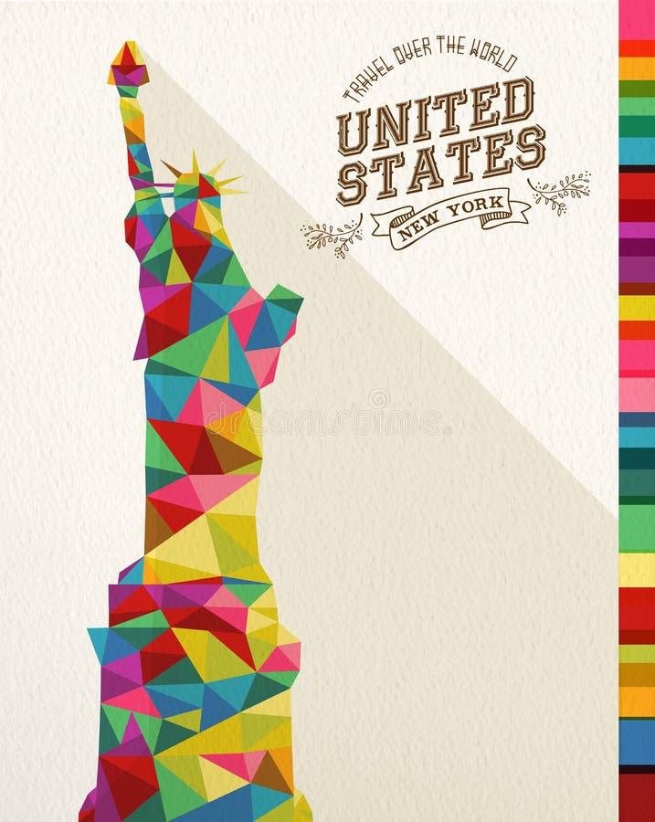 Monumento poligonal do marco dos EUA do curso ilustração royalty free