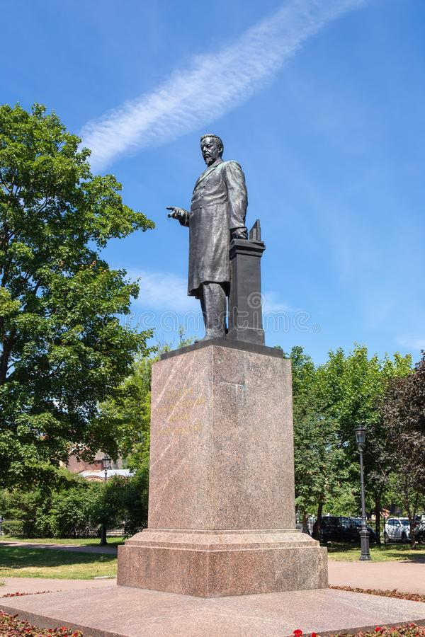 Monumento a Popov fotografia stock