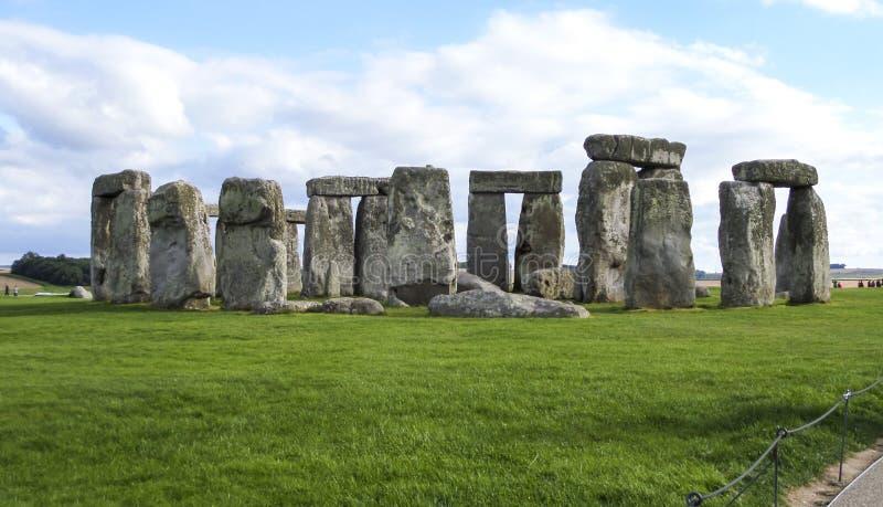 Monumento pré-histórico de Stonehenge em Wiltshire, Salisbúria, Inglaterra imagem de stock