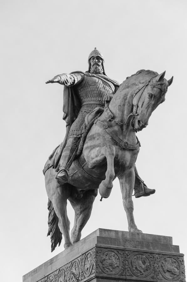 Monumento a príncipe ruso Yuri Dolgoruky, el fundador de Moscú fotografía de archivo