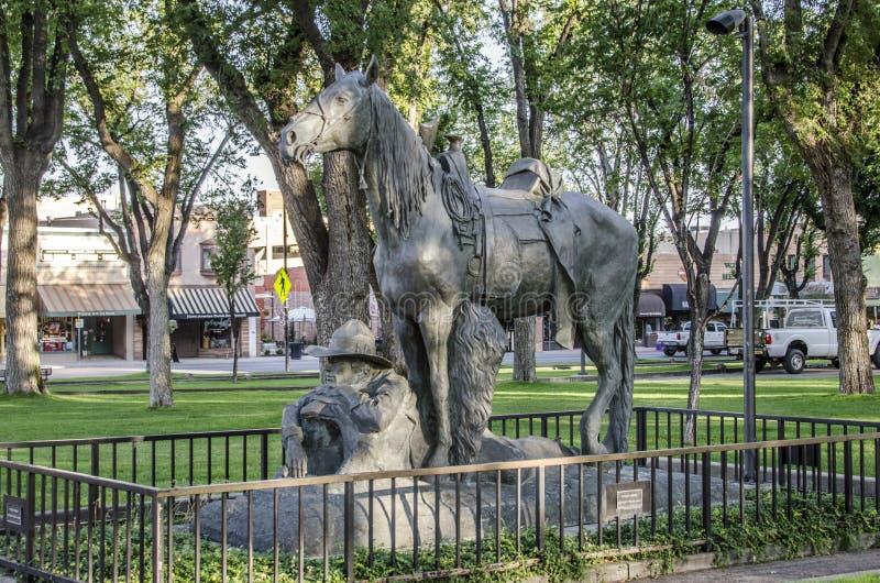 Monumento Prescott Arizona del vaquero en descanso fotografía de archivo