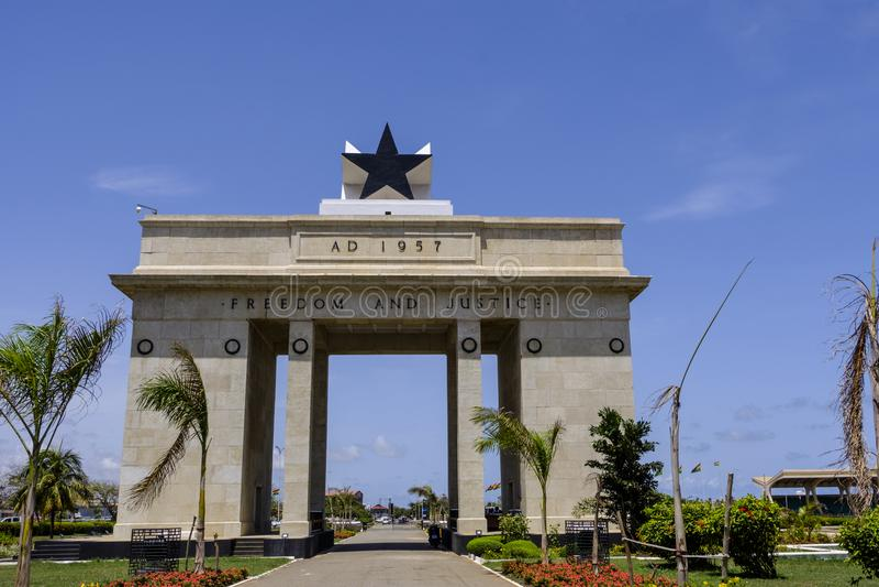 Monumento preto Accra Gana da porta da estrela imagens de stock royalty free
