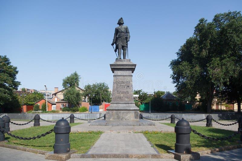 Monumento a Pyotr 1 fotografie stock libere da diritti