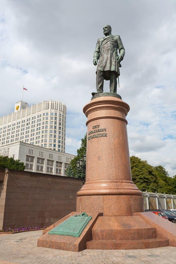 Monumento a Pyotr Stolypin a Mosca 20 08 2018 fotografia stock libera da diritti