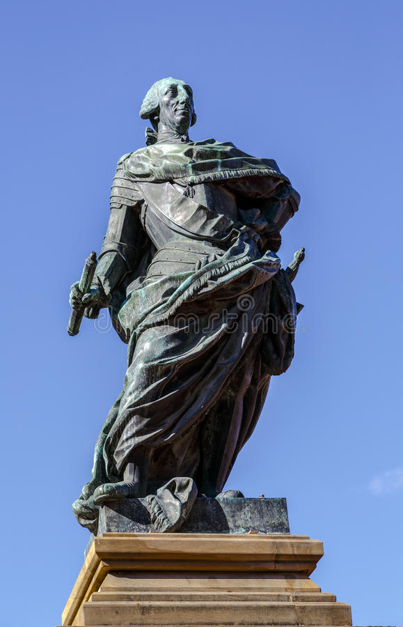 Monumento a re Carlos III, Burgos Spagna fotografia stock