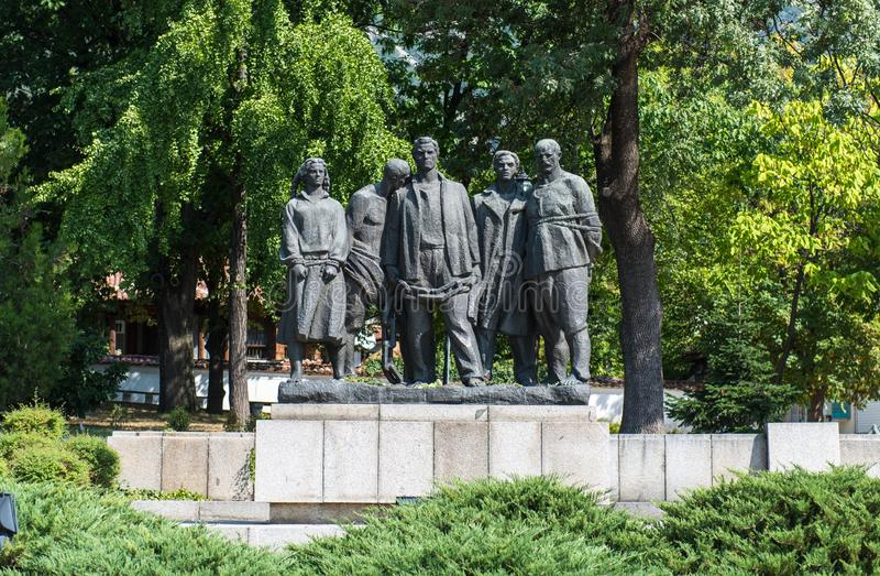 Monumento revolucionario de Vasil Levski Bulgarian imagen de archivo libre de regalías
