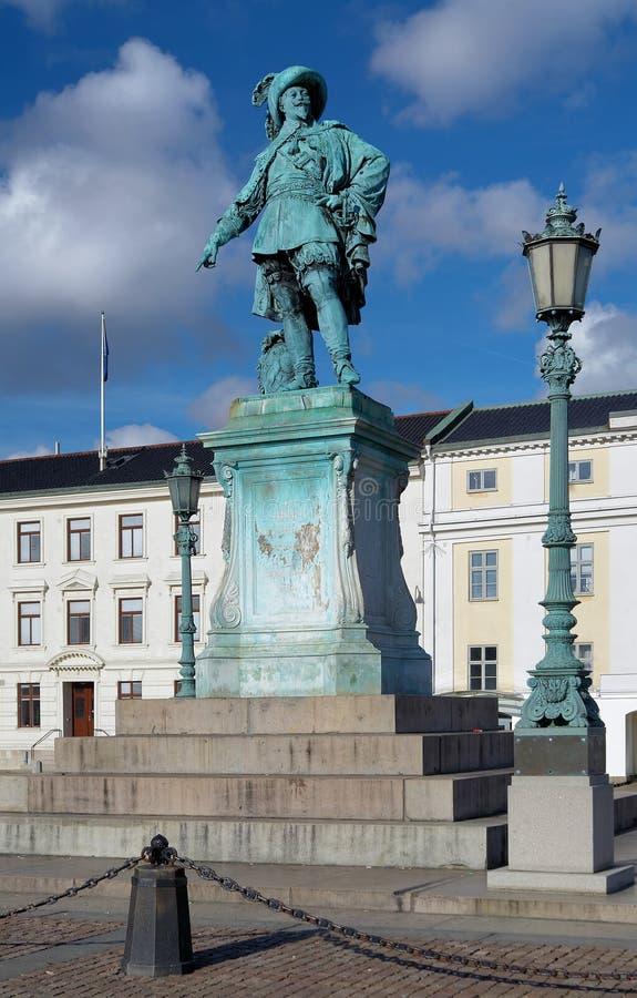 Monumento a rey sueco Gustavo II Adolfo imágenes de archivo libres de regalías