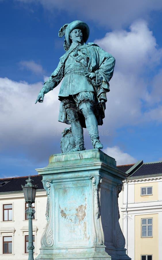 Monumento a rey sueco Gustavo II Adolfo foto de archivo