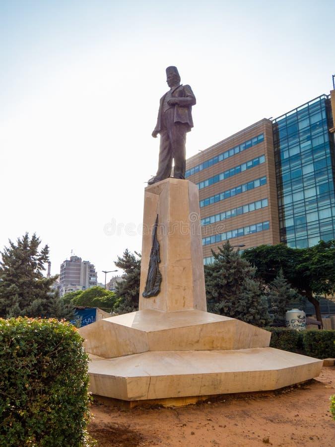 Monumento a Riad Al Solh en Beirut, Líbano foto de archivo libre de regalías