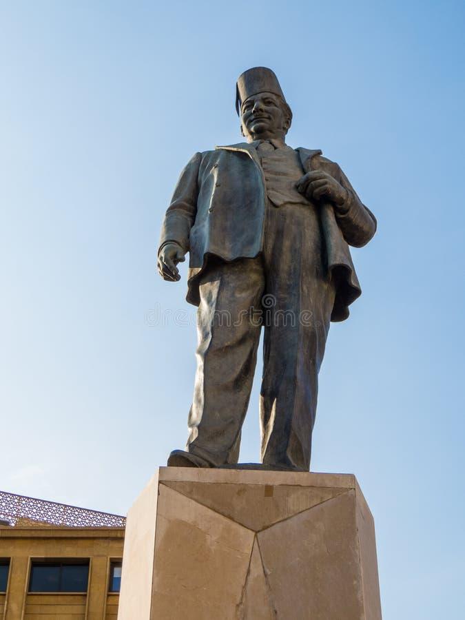Monumento a Riad Al Solh en Beirut, Líbano imagen de archivo libre de regalías