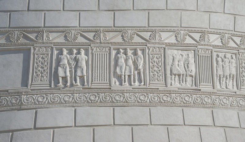 Monumento romano em Adamclisi, Romênia fotografia de stock