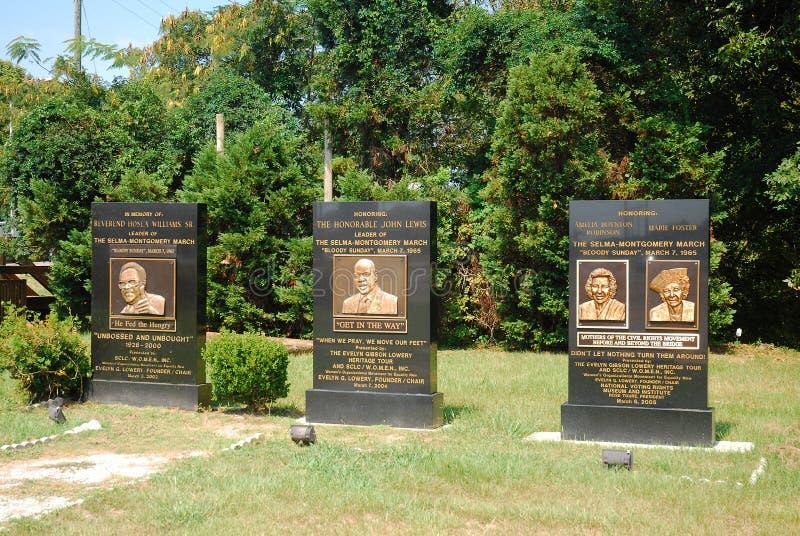 Monumento sangriento de domingo, Selma, Alabama imagen de archivo libre de regalías