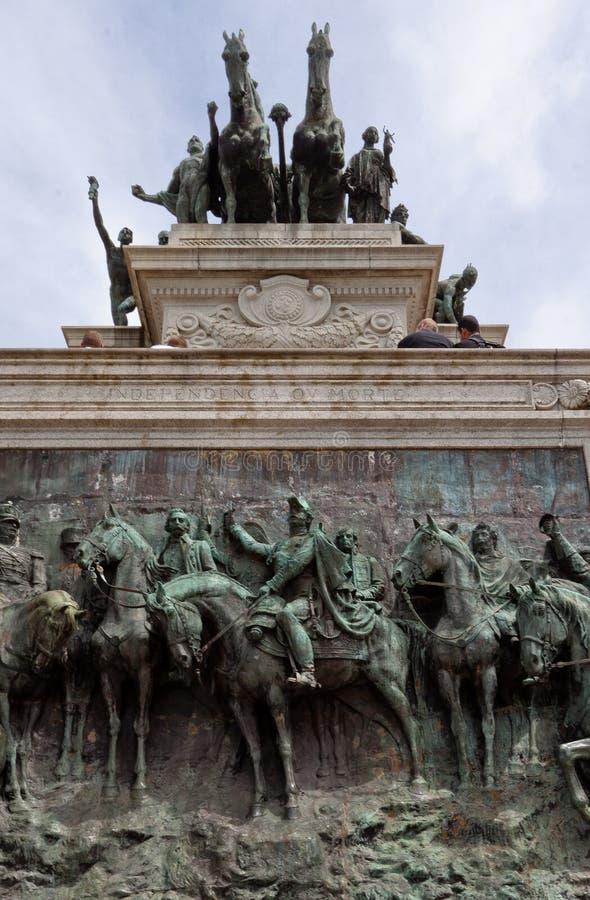 Monumento Sao Paulo de Ipiranga imagem de stock
