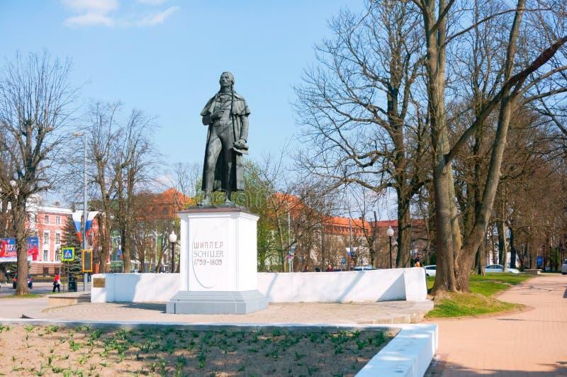 Monumento a Schiller, monumento ao poeta, ao filósofo e ao dramaturgo alemães Friedrich Schille fotografia de stock royalty free