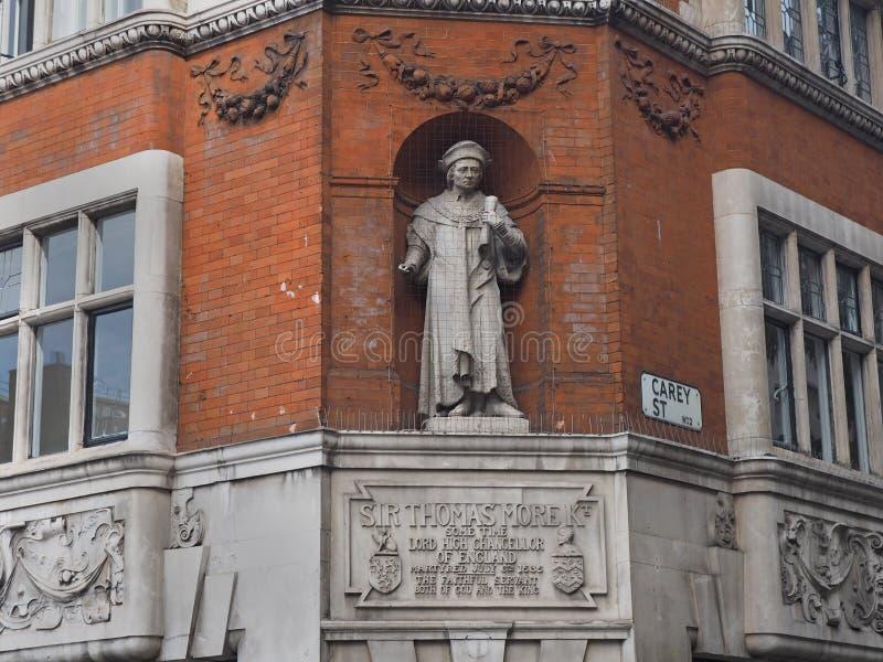 Monumento a Sir Thomas More imagen de archivo