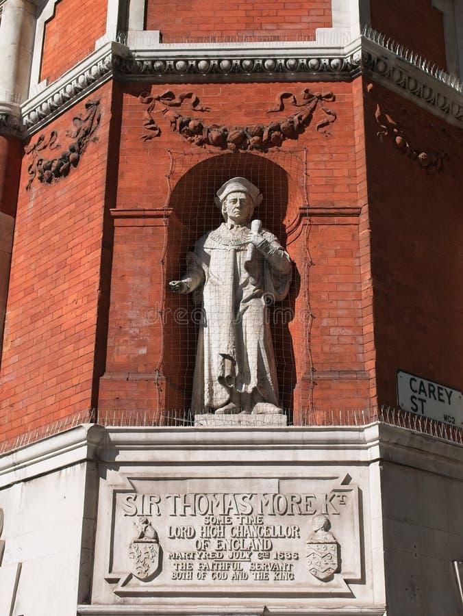 Monumento a Sir Thomas More fotos de archivo libres de regalías