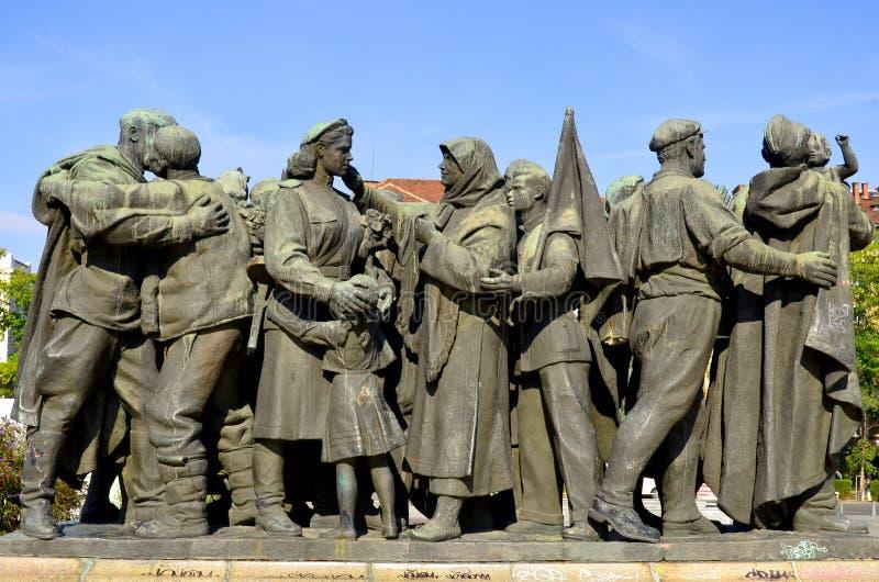 Monumento sovietico dell'esercito immagini stock libere da diritti