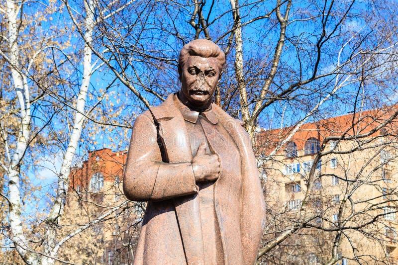 Monumento a Stalin Parque de ` de Museon del ` de los artes moscú fotografía de archivo