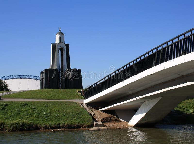 Monumento sull'isola delle rotture a Minsk immagini stock