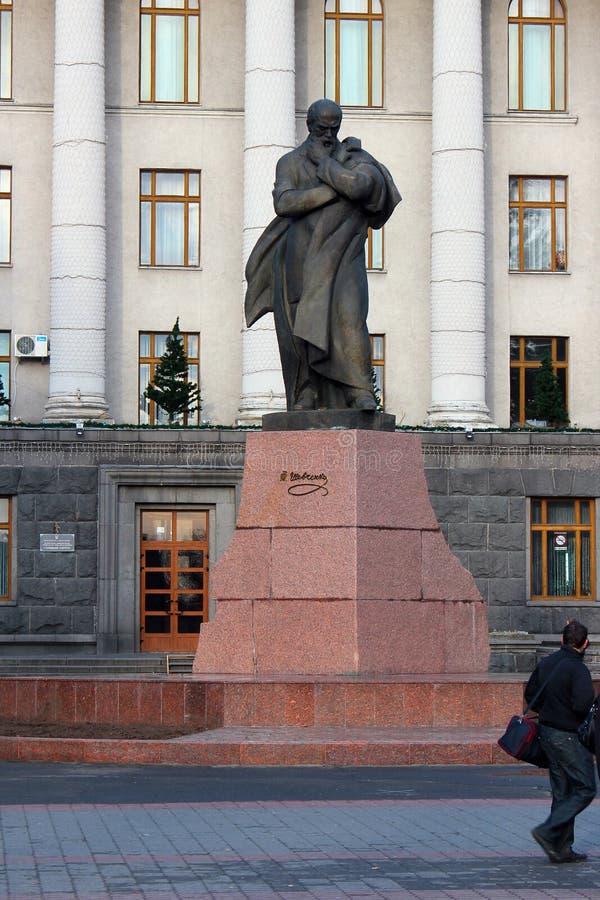 Monumento a Taras Shevchenko em Lutsk, Ucrânia fotos de stock