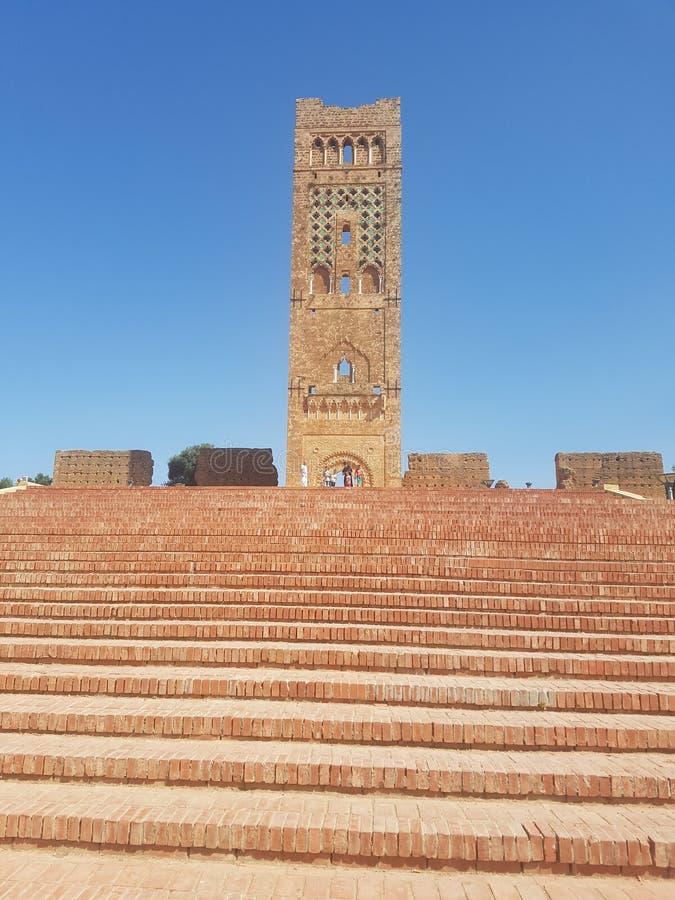 Monumento turístico del sitio y del x22 arqueológicos; Mansoura& x22; en la ciudad de Tlemcen Argelia imagen de archivo libre de regalías