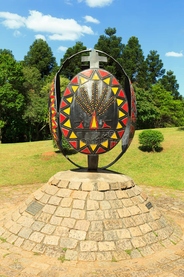 Monumento ucraniano, Curitiba, estado de Paraná, el Brasil fotos de archivo libres de regalías