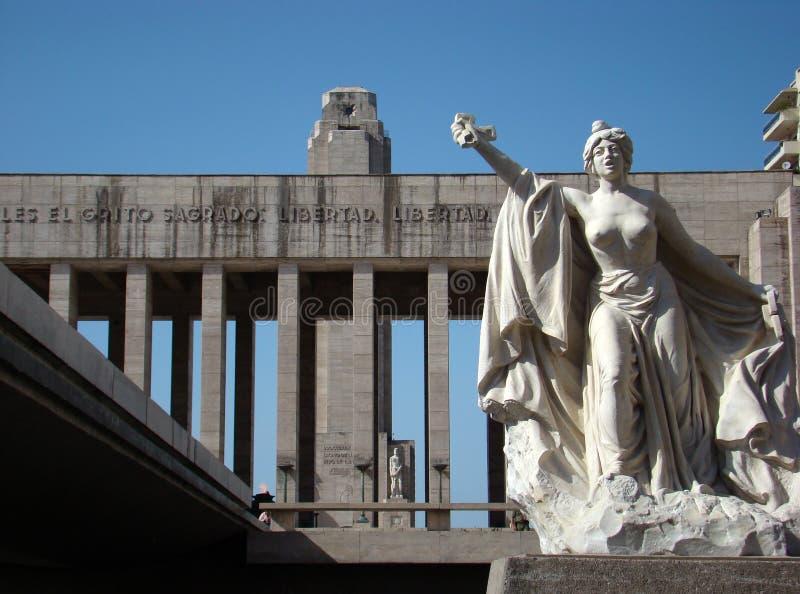 Monumento um la Bandera - quadrado de Lola Mora imagem de stock royalty free