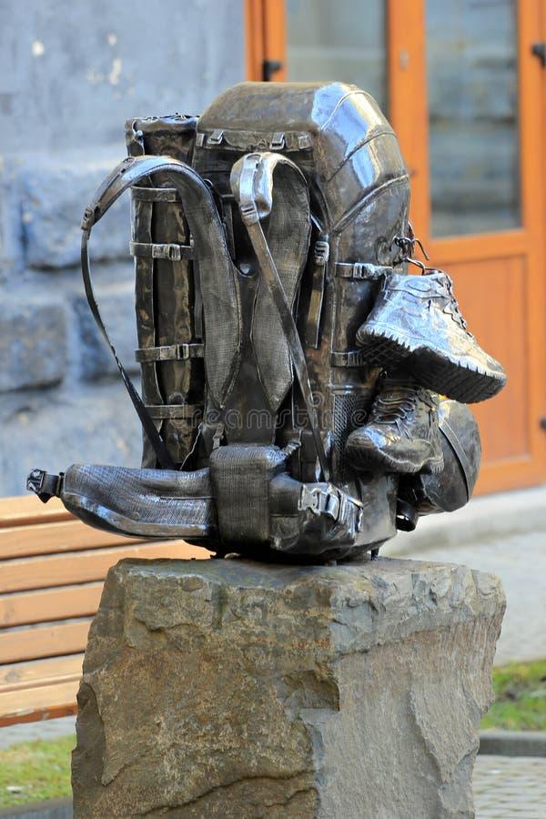 Monumento a uma trouxa em Lviv, Ucrânia fotos de stock royalty free