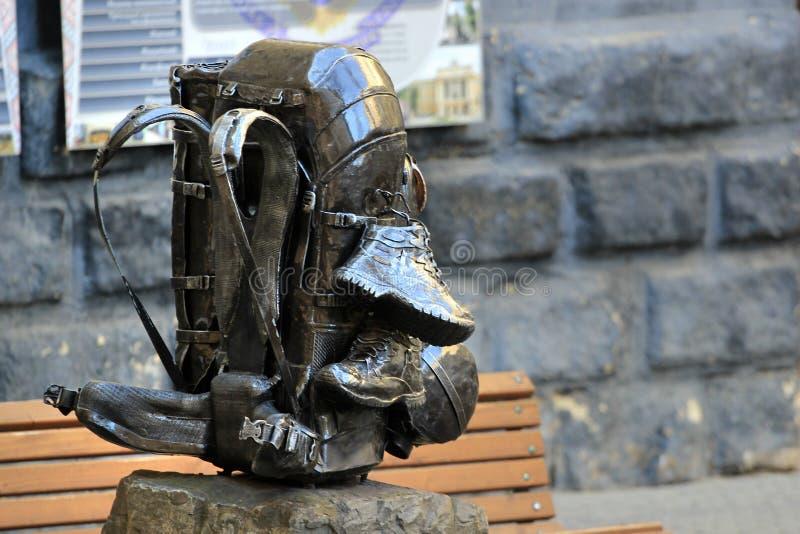 Monumento a uma trouxa em Lviv, Ucrânia imagens de stock