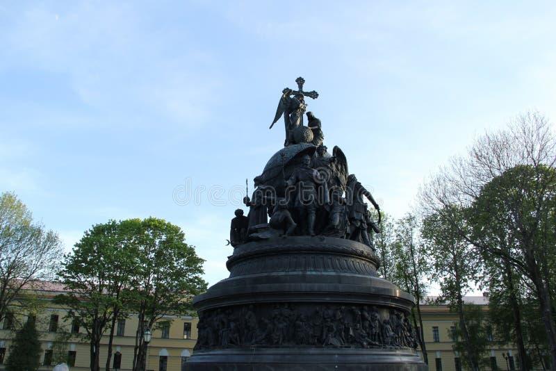 monumento in Velikiy Novgorod fotografia stock