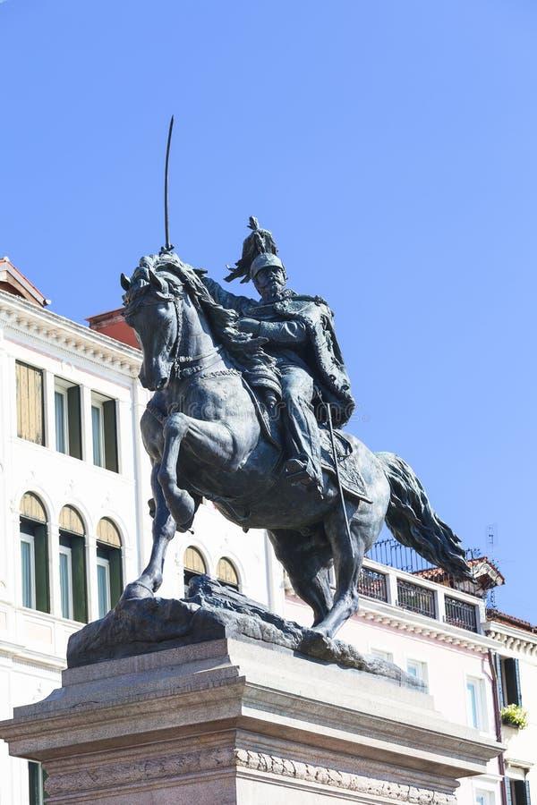 Monumento a Victor Emmanuel II, primer rey de Italia unida, degli Schiavoni, Venecia, Italia de Riva fotos de archivo libres de regalías
