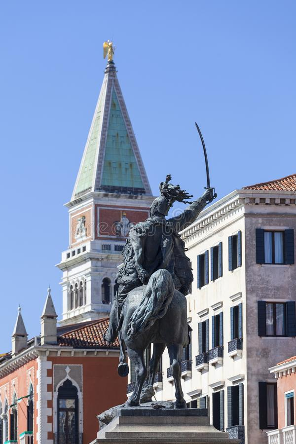 Monumento a Victor Emmanuel II, primer rey de Italia unida, Riva imagen de archivo libre de regalías