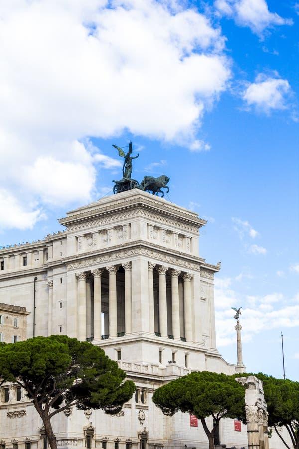 Monumento a Victor Emmanuel II Vittoriano fotografia stock