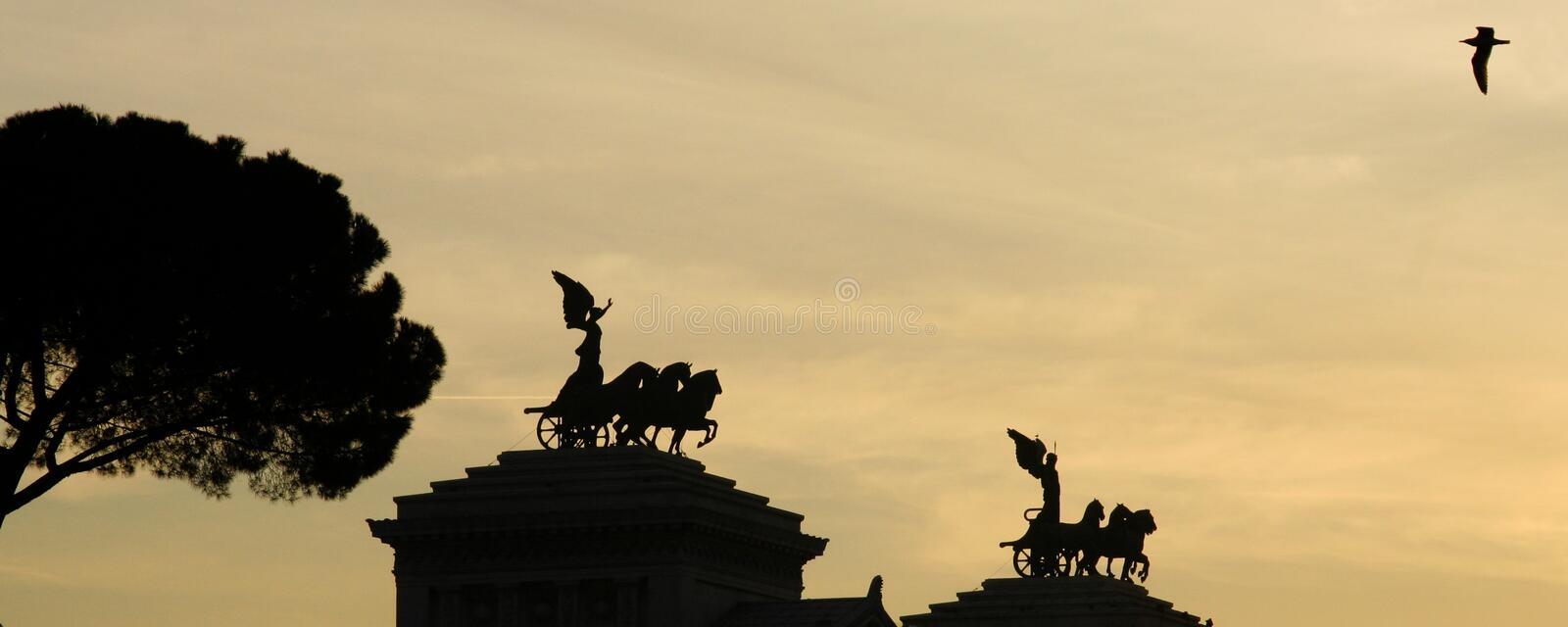 Download Vittorio Emanuele II Monument Stock Photo - Image of sunset, historical: 2392304