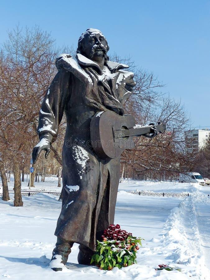 Monumento a Vladimir Mulyavin-Soviet y al músico bielorruso, conjunto principal 'Pesnyary ', el artista de la gente de la URSS imagen de archivo
