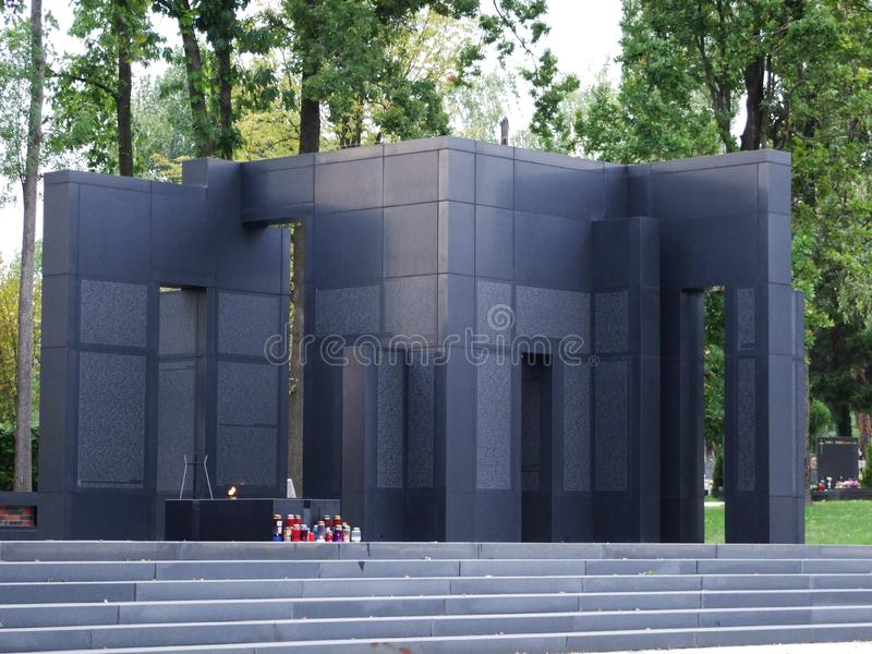 Monumento The Voice de la víctima croata fotografía de archivo libre de regalías