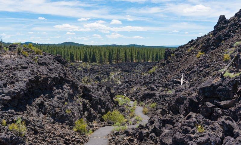 Monumento vulcânico nacional de Newberry imagens de stock