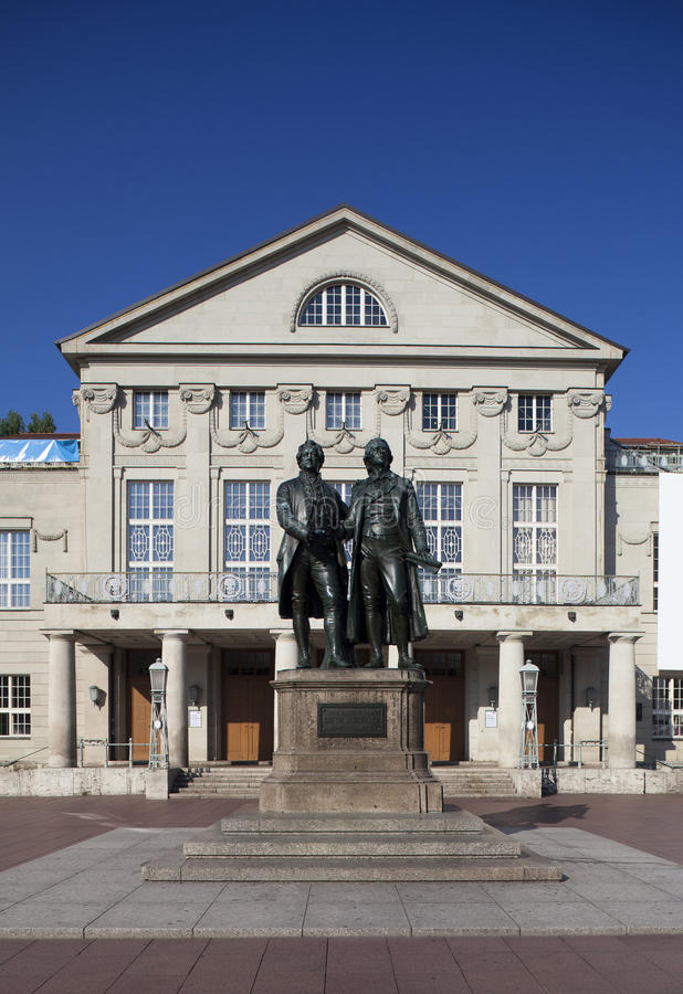 Monumento Weimar de Goethe imagens de stock royalty free