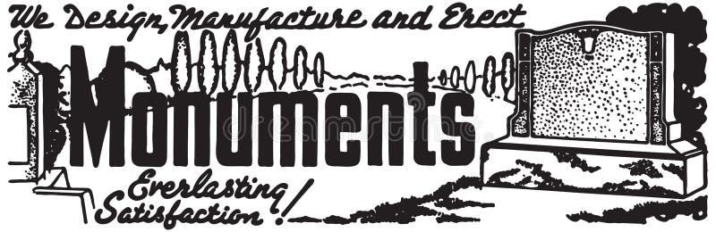 Monumentos 2 ilustración del vector