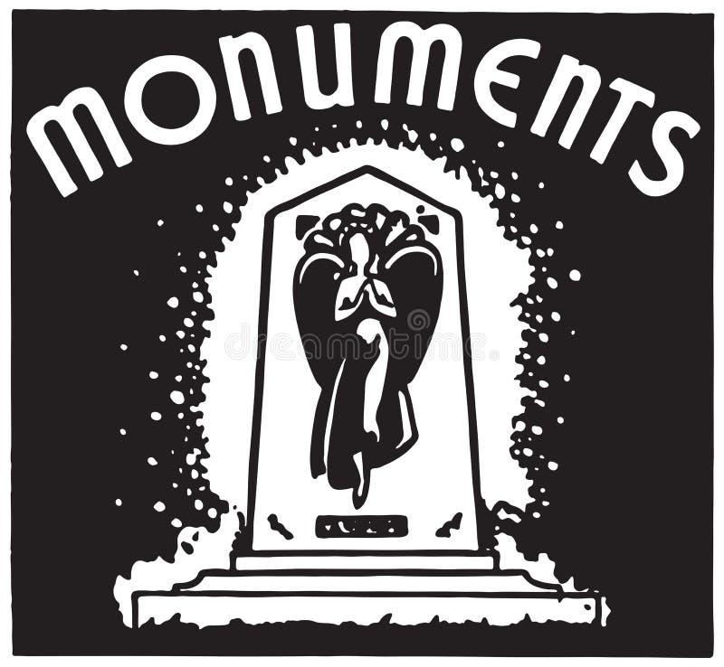 monumentos stock de ilustración