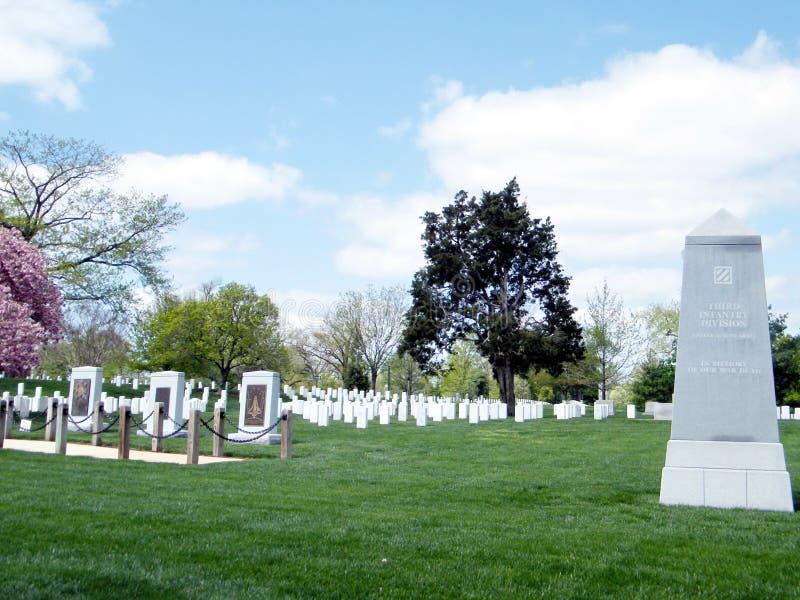 Monumentos 2010 del cementerio de Arlington foto de archivo libre de regalías