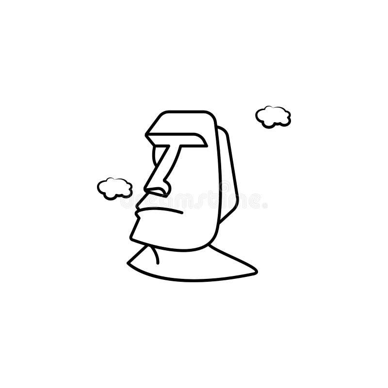 Monumentos del icono de Moai Elemento del icono antienvejecedor para los apps móviles del concepto y del web Los monumentos del e ilustración del vector